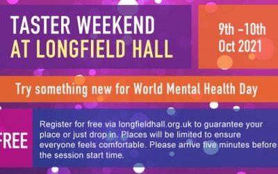 Taster Weekend 9 – 10 October – World Mental Health Day